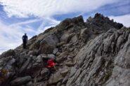 Salendo la cresta N del Fourchon