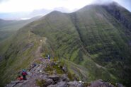 La cresta verso lo Sgurr Mhor