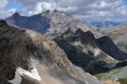 Veduta verso il Pic de la Fointe Sancte (m 3385) dalla vetta del Ciaslaras
