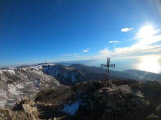 Panorama dalla vetta su Levante