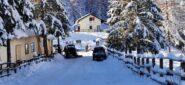 Colle della Melosa in veste invernale, punto di partenza per la salita