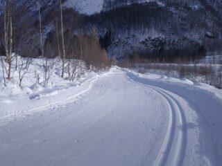 La pista all'altezza di Forno.