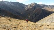 salendo nella parte iniziale del Vallone Clapiera