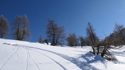 bella neve anche verso Garino