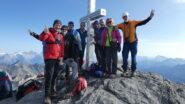 foto di gruppo in vetta all'Usser Barrhorn