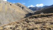 la parte intermedia del Vallone Clapiera, non c'è un sentiero vero e proprio ma si sale senza problemi