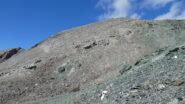 la Punta Ciatagnera osservata dai pressi del Colle di quota 3153 m