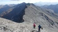 in discesa verso il Colle di quota 3153 m