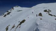 parte alta della cresta di salita e Colma di Mombarone