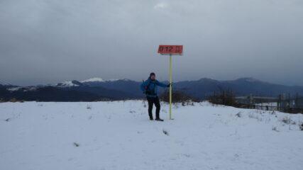 in vetta al Monte Alpe (sulla cima passa il metanodotto)