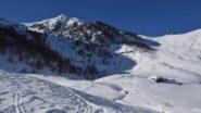 Il vallone con cima del Lusco