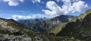 Dal Colle, la vista sulla Val Soana. Sullo sfondo spicca la Torre Lavina e il gruppo delle Sengie