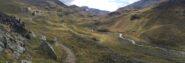 I pascoli verso Erveillères, nel vallone del Grauson