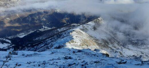 La dorsale dal Colle Crosiasse alla cima del Monte Doubia.