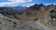 Vista dal Colle di S. Marcel sul Lago Corona (lato Grauson)