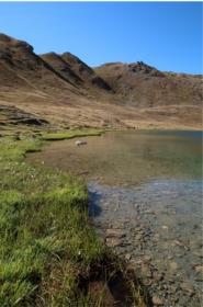 Il Lago Corona, tra il Colle di S.Marcel e il Rif. Grauson