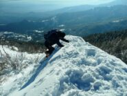 Ultimi metri salendo le Rocche di San Martino... come scalare la Parrot !!!