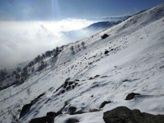 Utime baite sotto la cima, versante sud, per molti la meta finale.