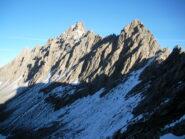 l'Aig. de Chambeyron dalla cresta sudovest alla Tete des Hommes..
