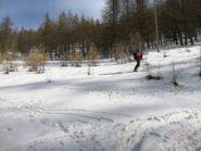Neve primaverile sotto pian Gelassa