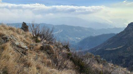 visuale sul fondovalle da quota 850 m