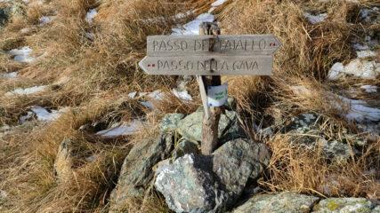 il bivio per salire al Passo del Faiallo o al Passo della Gava, noi siamo saliti verso il Faiallo