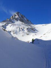Sopra l'Alpe Giasset in vista del pendio finale