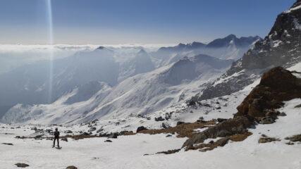 Parte mediana del vallone, sullo sfondo il Truc d'Ovarda