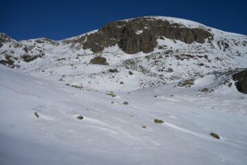Monte Cirunda e sulla sinistra il canale di salita