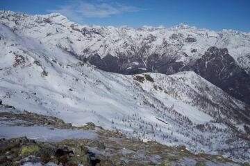 Panorama verso Nord-Ovest dal Ciriunda