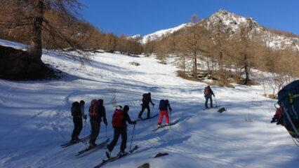 La vecchia pista da sci