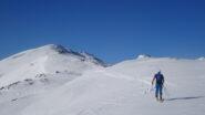 In vista della vetta del Monte Borel