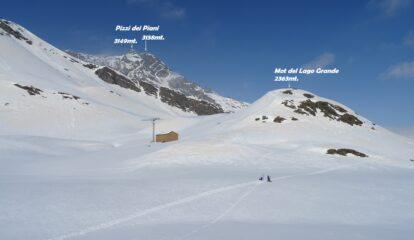 Arriviamo al futuro Rifugio del Lago Baldiscio 2310mt.