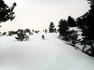 Alberto su neve perfetta