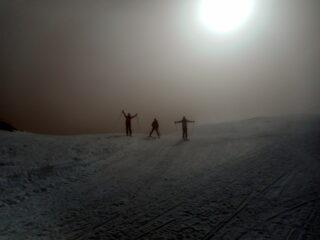 rientrando sul versante italiano ritroviamo la nebbia