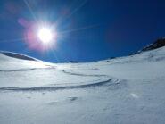 bella neve scendendo dalla monpers prima dell'assestamento