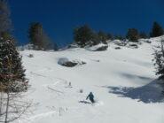 discesa su bella neve