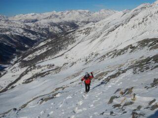 il breve tratto a piedi per la cima