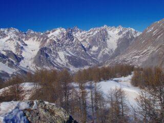 vista sulla testata dell'Alta Val Maira