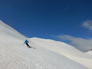 Splendida neve a lato del colletto Campanin