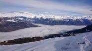 Aosta, sotto le nuvole