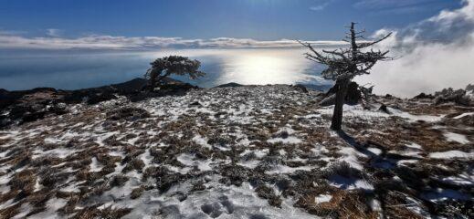 la neve ed il mare che splende...spettacoli unici dell'Appennino Ligure!