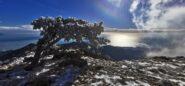 magie invernali sul versante Est del Monte Reixa guardando verso il mare