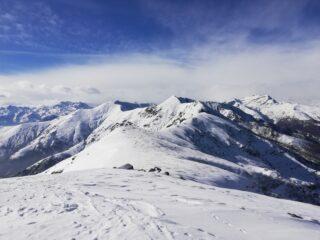 Cresta finale e Uja sullo sfondo
