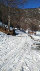 inizio strada  per il Passo Colla