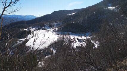 salita panoramica , vista su prodongo partenza