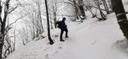 Stelvio in salita nel bosco a quota 1300 m
