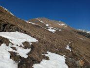sentiero del Pelvo, si passa bene senza toccare quasi neve e si vede molto meglio che d'estate con erba lunga