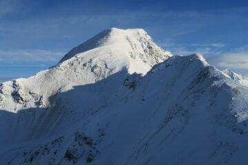 una robusta placca di neve ventata si è staccata dal Monte Rosso di Vertosan