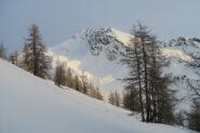 la cima di Barasson salendo verso la Tete de Choume
